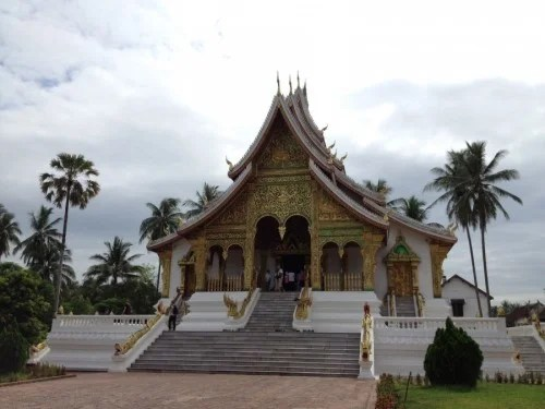 The temple housing the Prabang Buddha at the National Museum.