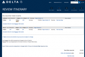 By using Delta miles to fly to London, you can save hundreds of dollars.