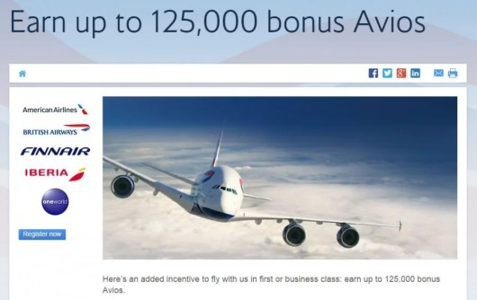 You can earn 125,000 bonus Avios for flying to and from Europe this fall