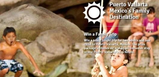 Win a family trip to Puerto Vallarta, Mexico