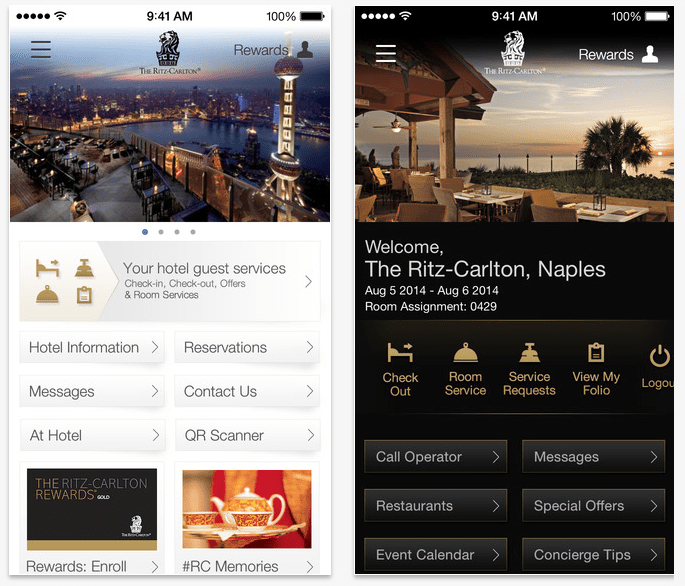Throughout 2014, The Ritz-Carlton is rolling out an app that performs most of the functions of its front-desk staff.