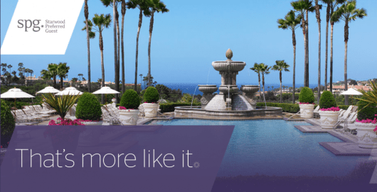 Earn double or triple points with SPG More For You.