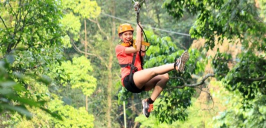 Zipline through the jungle of Northern Thailand