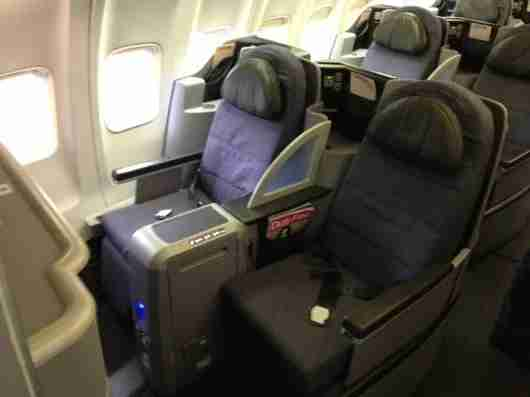 I prefer the all-forward-facing seats of the other version of BusinessFirst.