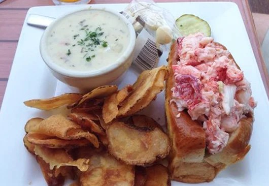 A lobster roll dish at River House