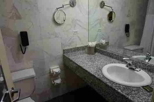The bathroom was spacious