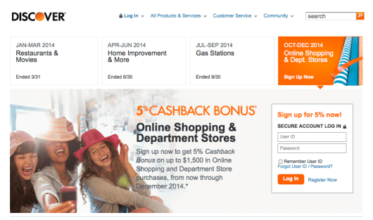 The DiscoverIt also offers rotating bonus categories.