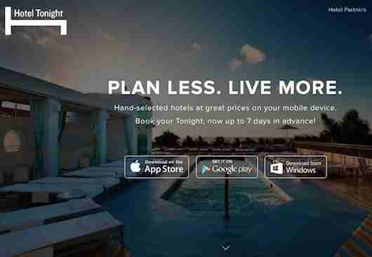 Book last minute hotel rooms with Hotel Tonight