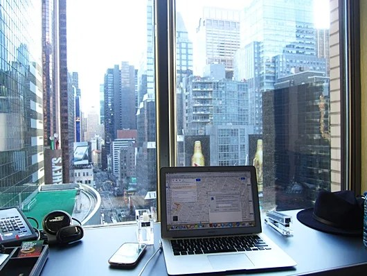 Loved to check out the view while working