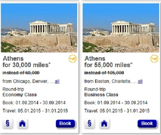 Lufthansa Miles and More offers great discounts to most of their European destinations.