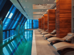 The spa at the Radisson Blu