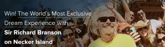 Win a trip to Necker Island to see a tennis tournament