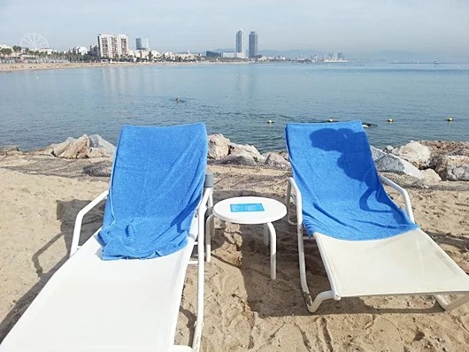 Our chairs at the W Beach