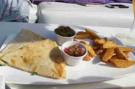 Poolside Quesadilla
