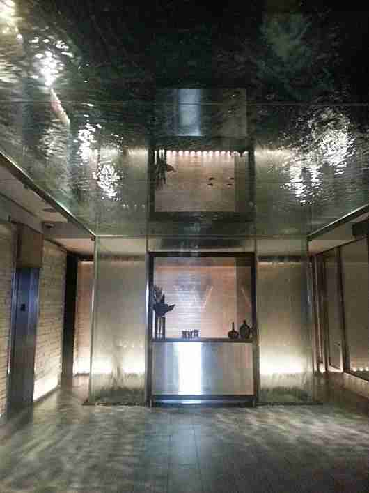 The water ceiling upon entering the W New York Times Square