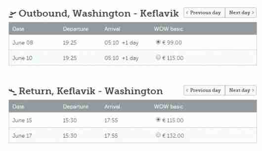 WOW air Iceland Washington Reykjavik 2015