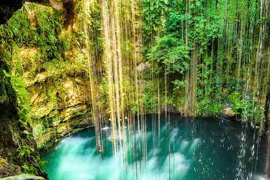 A cenote near Chichen Itza. Photo courtesy Shutterstock.