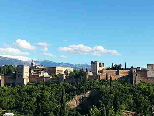 A view of the Alhambra from the Mirador de San Nicholas lookout point
