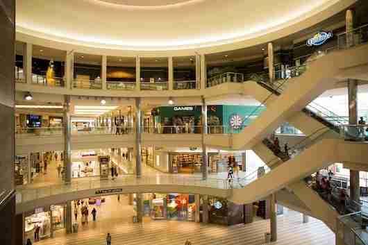 The four-floor rotunda at Mall of America.