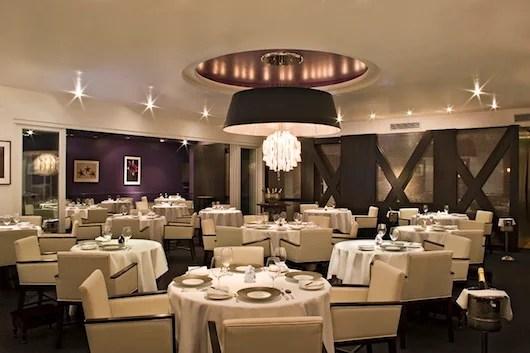 Melisse's elegant dining room.