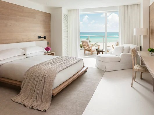 A guest room at the newly opened Miami Beach EDITION.