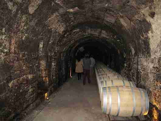 Wine cellars from the 16th and 17th century. Spooky!