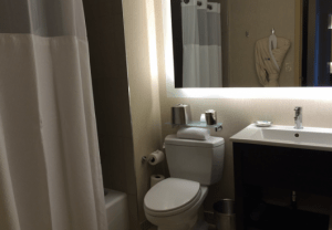 The room had a nice bathroom that seemed to be recently renovated