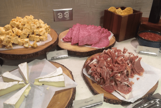 Meats and cheese in the  Regency Club