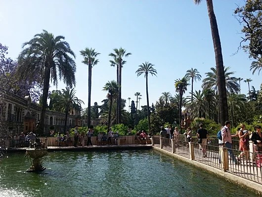The Palace Gardens on a sunny Seville afternoon. Photo by Lori Zaino.