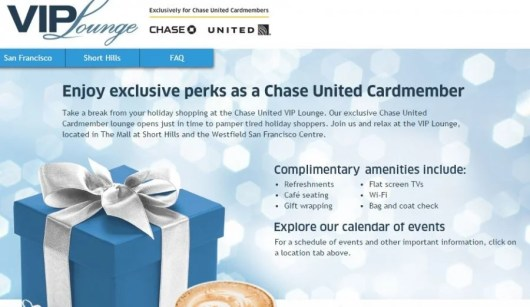 United Chase cardholders and up to three guests can enter the lounges.