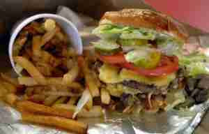 Grab one last Five Guys burger and fries before you depart DCA