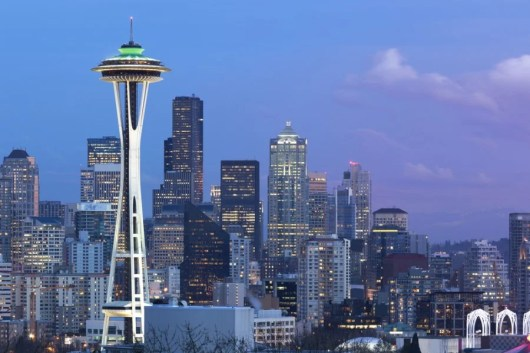 Check out the Seattle Space Needle during your layover. Photo courtesy of Shutterstock.