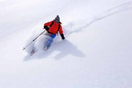 Get a free lift ticket at Snowbasin with your Alaska boarding pass. Photo courtesy of Shutterstock.