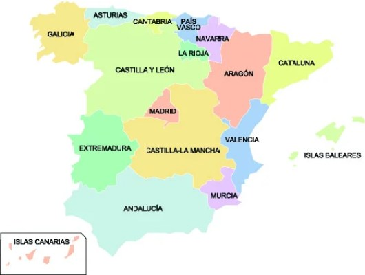 The Rioja region of Spain is small, located in the North and colored in green on this map. Image courtesy of Shutterstock.