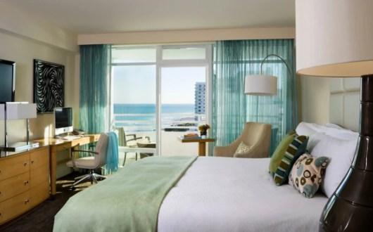 Miami Beach's Fontainebleau has great views of the Atlantic Ocean.