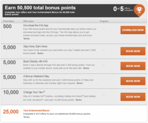 Here are just some of the things you can do to earn the bonus points