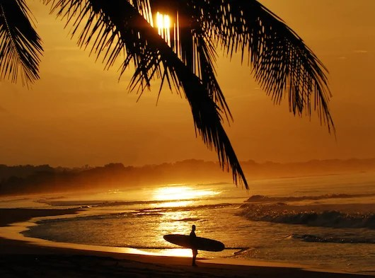 Surf's up in Costa Rica.