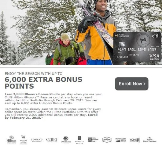 Earn bonus points for paying with your Citi HHonors card for Hilton stays