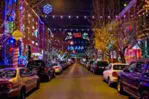 In South Philadelphia, neighborhoods put on quite a light display. Photo by J. Fusco for Visit Philadelphia