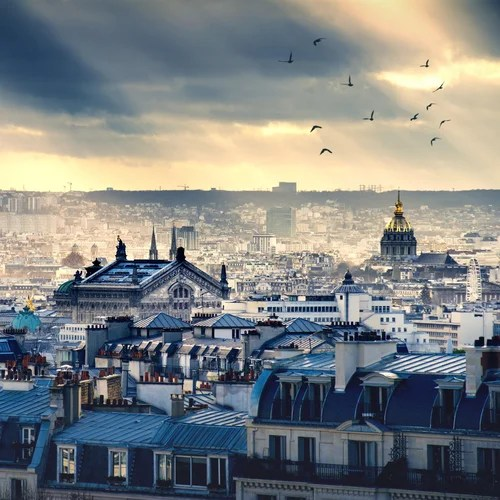 The rooftops of Paris. Photo courtesy Shutterstock.