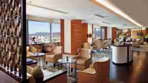 The 23rd-floor Club Lounge at The Ritz-Carlton, Los Angeles