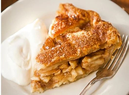 A sweet slice of salted caramel apple pie at Four and Twenty Blackbirds.
