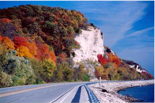 The meeting of the Mississippi and Illinois rivers along the Great River Road Scenic Byway