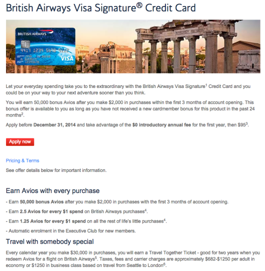 The British Airways Visa can offer you some terrific value, and for a limited time only, you don't have to pay an annual fee in year one.