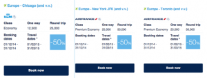 Flying Blue Promo Awards for North America, February 1-March 31, 2015