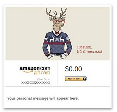 A purchase as small as a $10 Amazon.com gift card is eligible for this targeted offer.
