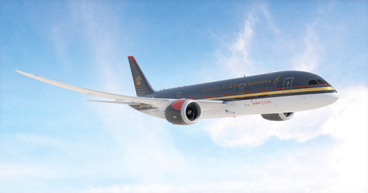 Royal Jordanian just put its 787 into service on the route to Montreal and Detroit. Photo courtesy of Royal Jordanian.