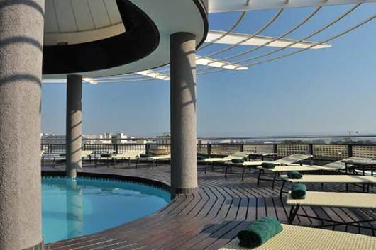 The rooftop pool at Durban's Protea