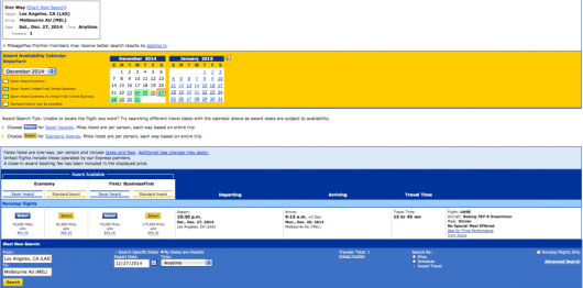 You can find award availability on United's first 787-9 route from LAX-Melbourne.