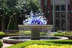 Check out the Dale Chihuly fountain/art installation at the Atlanta Botanical Garden.